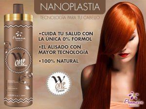 Melena pelirroja con tratamiento de pelo alisado con Nanoplastia keratina
