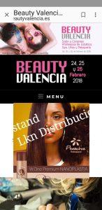 stand nanoplastia beauty Valencia WONE 2018