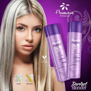 floractive Perfect blonder champú y mascarilla alisar pelo