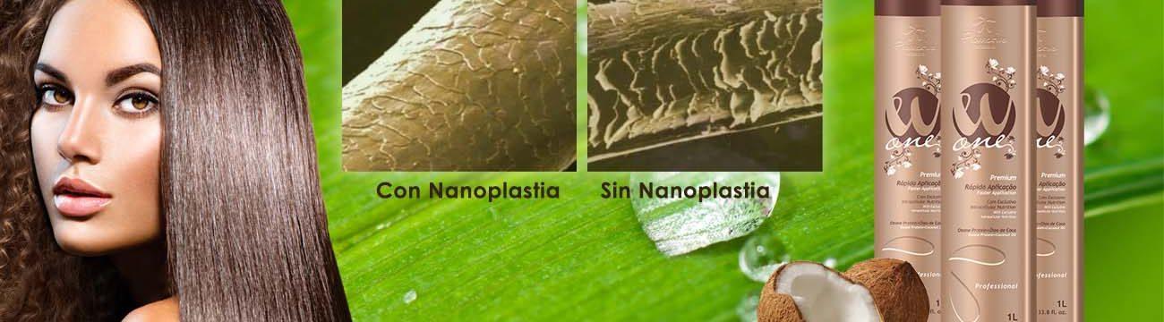 nanoplastia con wone de floractive para alisar el pelo